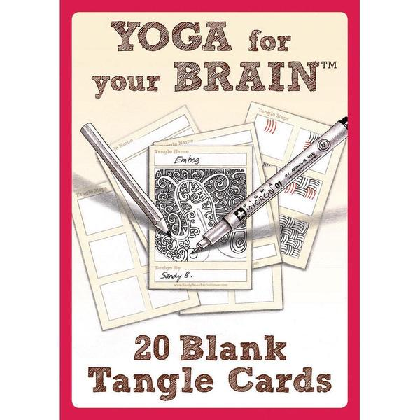 Design Originals - Yoga For Your Brain Blank Tangle Cards