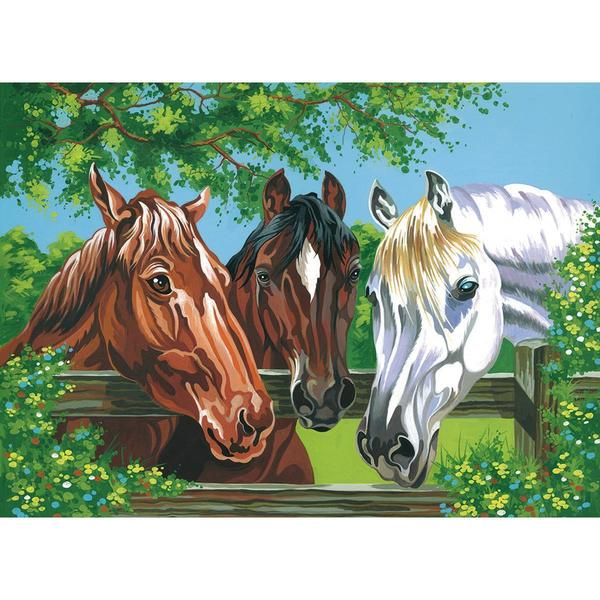 Paint By Number Kit 12 X16 - Horses