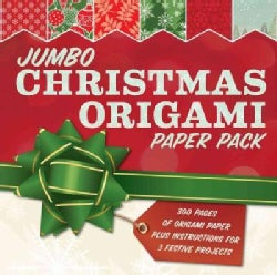 Jumbo Christmas Origami Paper Pack: 285 Sheets of Origami Paper Plus Instructions for 3 Festive Projects (Paperback)