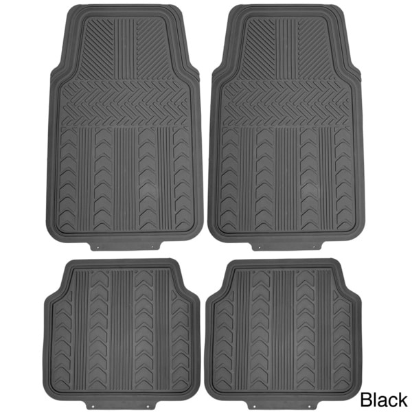 Oxgord Arrow Style Rugged 4-piece PVC Floor Mat Set