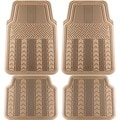 Arrow Style Rugged 4-piece PVC Floor Mat Set