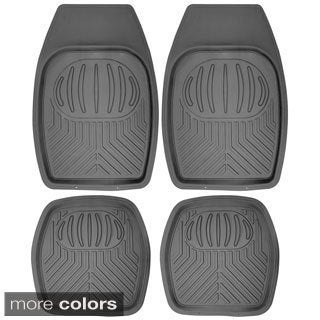 Oxgord Bear Claw Style Rugged 4-piece PVC Floor Mats Set