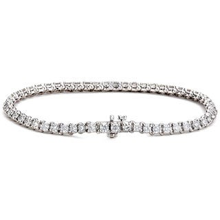 Diamonds For A Cure 14k White Gold 4.25ct TDW Tennis Bracelet (G-H, SI1-SI2)