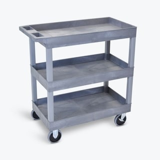 Luxor EC111HD-G Grey 3-shelf High-capacity Tub Cart