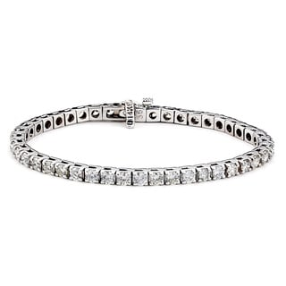 Diamonds For A Cure 14k White Gold 7ct TDW Tennis Bracelet (G-H, SI1-SI2)
