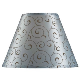 Design Match 15-inch Blue Velvet Flocked Lamp Shade