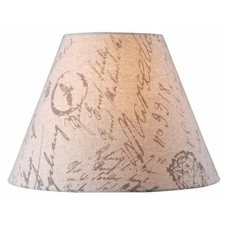 design match 15 inch beige french print lamp shade. Black Bedroom Furniture Sets. Home Design Ideas
