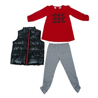 Peanut Buttons Girl's Scottie Dog Screenprint Clothing Set