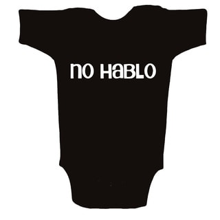 Unique Boutique Neutral 'No Hablo' Black Bodysuit