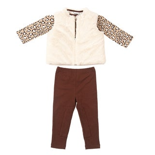 Peanut Buttons Girl's Cheetah Clothing Set