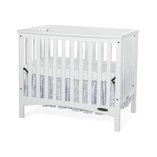 Child Craft London White Euro Mini 2-in-1 Convertible Crib with Mattress