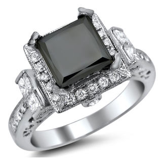 Noori 14k White Gold 2 3/5ct TDW Certified Diamond Engagement Ring (G, SI1)