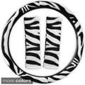 Safari Zebra/ Tiger Plush Auto Steering Wheel Cover and Belt Pads Set