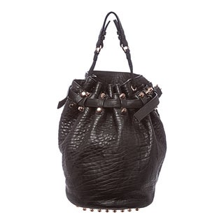 Alexander Wang 'Diego' Black Leather Bucket Bag