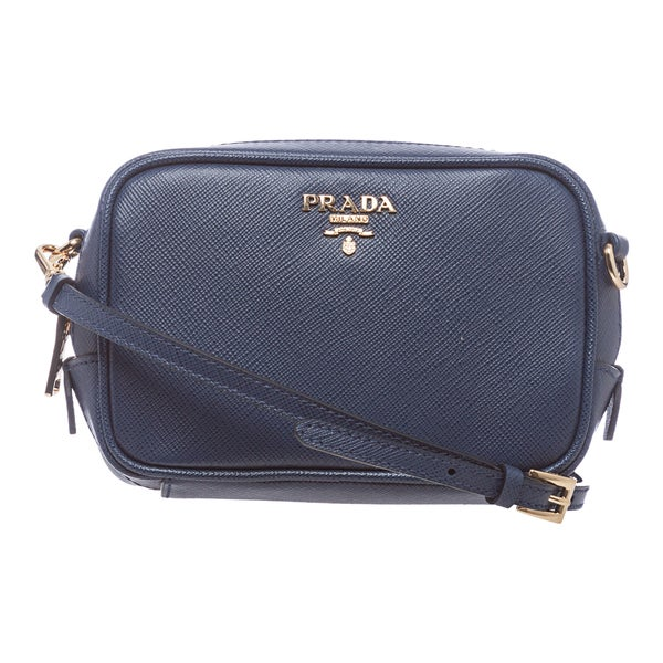 prada backpack sale - Prada Mini Cornflower Blue Saffiano Leather Zip Crossbody Bag ...