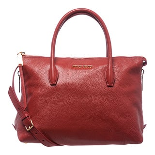 Miu Miu 'Madras' Red Leather Side-zip Satchel