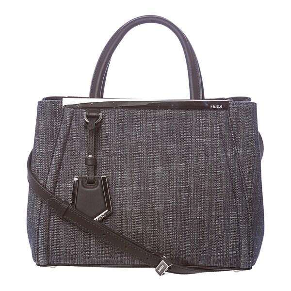 Fendi 2Jours Petite Blue Denim Shopper Bag