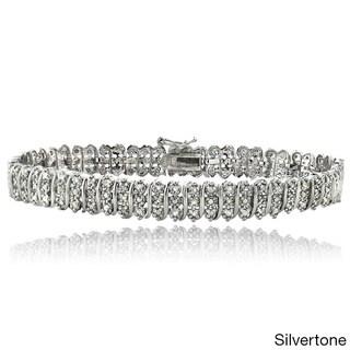 DB Designs 1ct TDW Diamond S Pattern Bracelet (I-J, I2-I3)