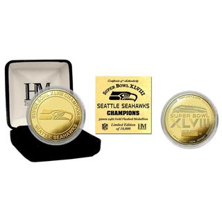 Seattle Seahawks Super Bowl 48 Champions Gold Mint Coin