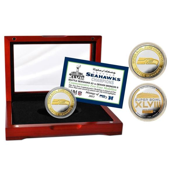 Seattle Seahawks Super Bowl 48 Champions Official Two-tone Mint Coin