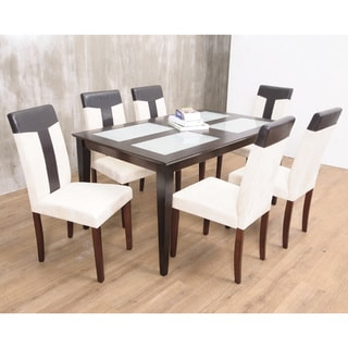 Warehouse of TIffany's 7-piece Brown Bark Dining Set