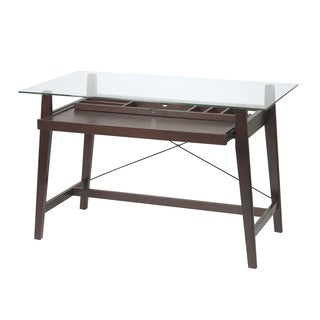 Tribeca 42-inch Espresso Glass-top Computer Desk