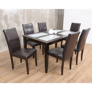 Warehouse of TIffany's 7-piece Brown Bock Dining Set