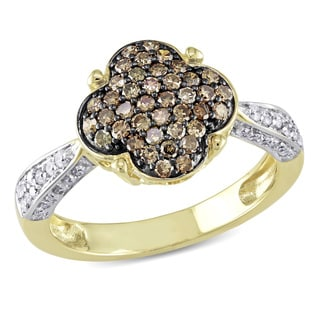 Miadora 14k Yellow Gold 3/4ct TDW Brown Diamond Ring (I-J, I2-I3)
