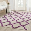 Safavieh Handmade Moroccan Cambridge Ivory/ Purple Wool Rug (8' x 10')