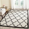 Safavieh Handmade Moroccan Cambridge Ivory/ Black Wool Rug (5' x 8')