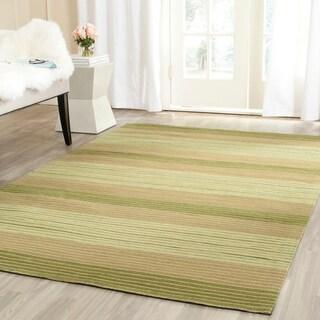 Safavieh Hand-woven Marbella Green Wool Rug (5' x 8')