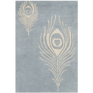 Safavieh Handmade Soho Light Blue/ Ivory New Zealand Wool/ Viscose Rug (2' x 3')