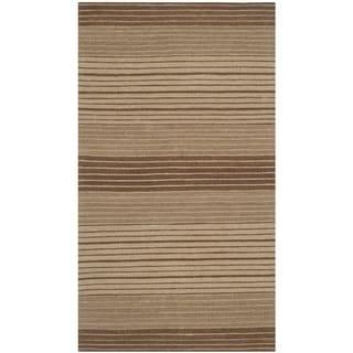 Safavieh Hand-woven Marbella Beige/ Brown Wool Rug (2'3 x 4')