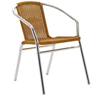 Bistro Chromed Rattan Cafe Chair
