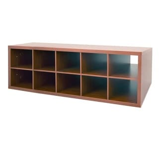 Organized Living freedomRail Modern Cherry Double Hang Big O-Box Cubby
