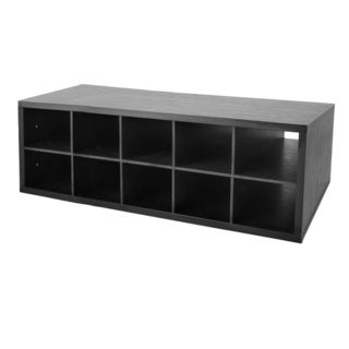 Organized Living freedomRail Midnight Live Double Hang Big O-Box Cubby