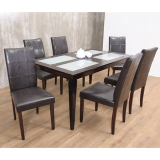 Warehouse of TIffany's 7-piece Brown Bass Dining Set