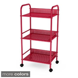 Metal Shelving 3-tier Cart with Rotating Casters