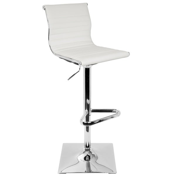 Master Adjustable Contemporary Barstool in Faux Leather 23749777