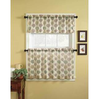 Orchard 3-piece Tier Curtain and Valance Set