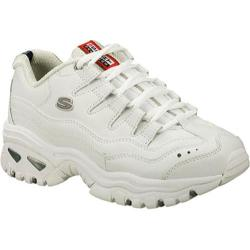 Women's Skechers Energy White Leather/Silver Trim (WML)