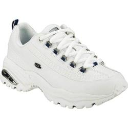Women's Skechers Premium White/Navy