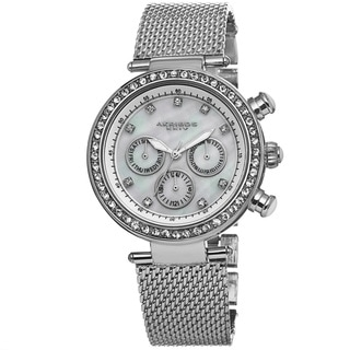 Akribos XXIV Women's Multifunction Quartz Genuine Crystal Stainless Steel Bracelet Watch