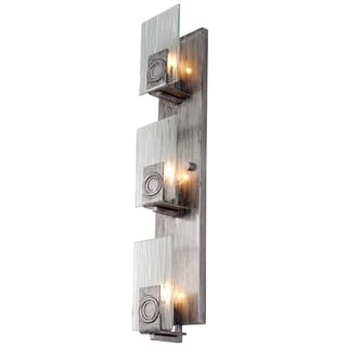 Varaluz Polar 3-light Blackened Silver Vertical Vanity Fixture