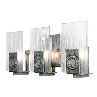 Varaluz Polar 3-light Blackened Silver Vanity Fixture