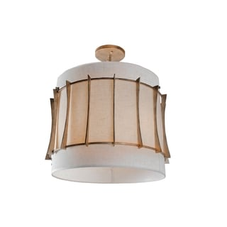 Varaluz Occasion 3-light Zen Gold Semi-Flush
