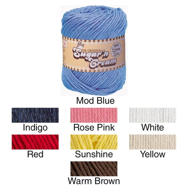 Sugar'n Cream Yarn Solids Super Size