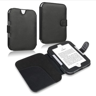 INSTEN Black Leather Phone Case Cover for Barnes & Noble Nook Glowlight