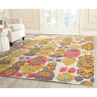 Safavieh Hand-woven Kenya Multicolored Wool Rug (9' x 12')