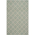 Safavieh Hand-hooked Newport Aquamarine/ White Cotton Rug (7'9 x 9'9)